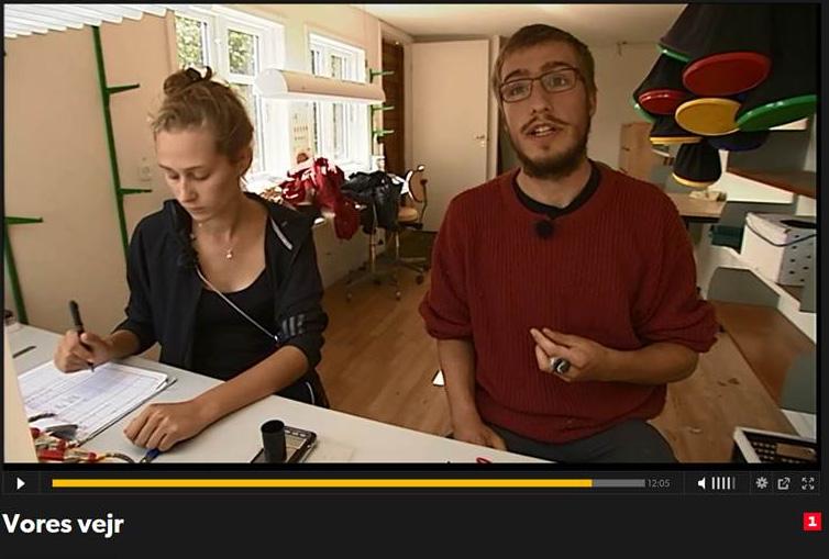 Foto fra tv indslag om ringmærkning og Gedser Fuglestation i udsendelsen Vores Vejr (DR 1)