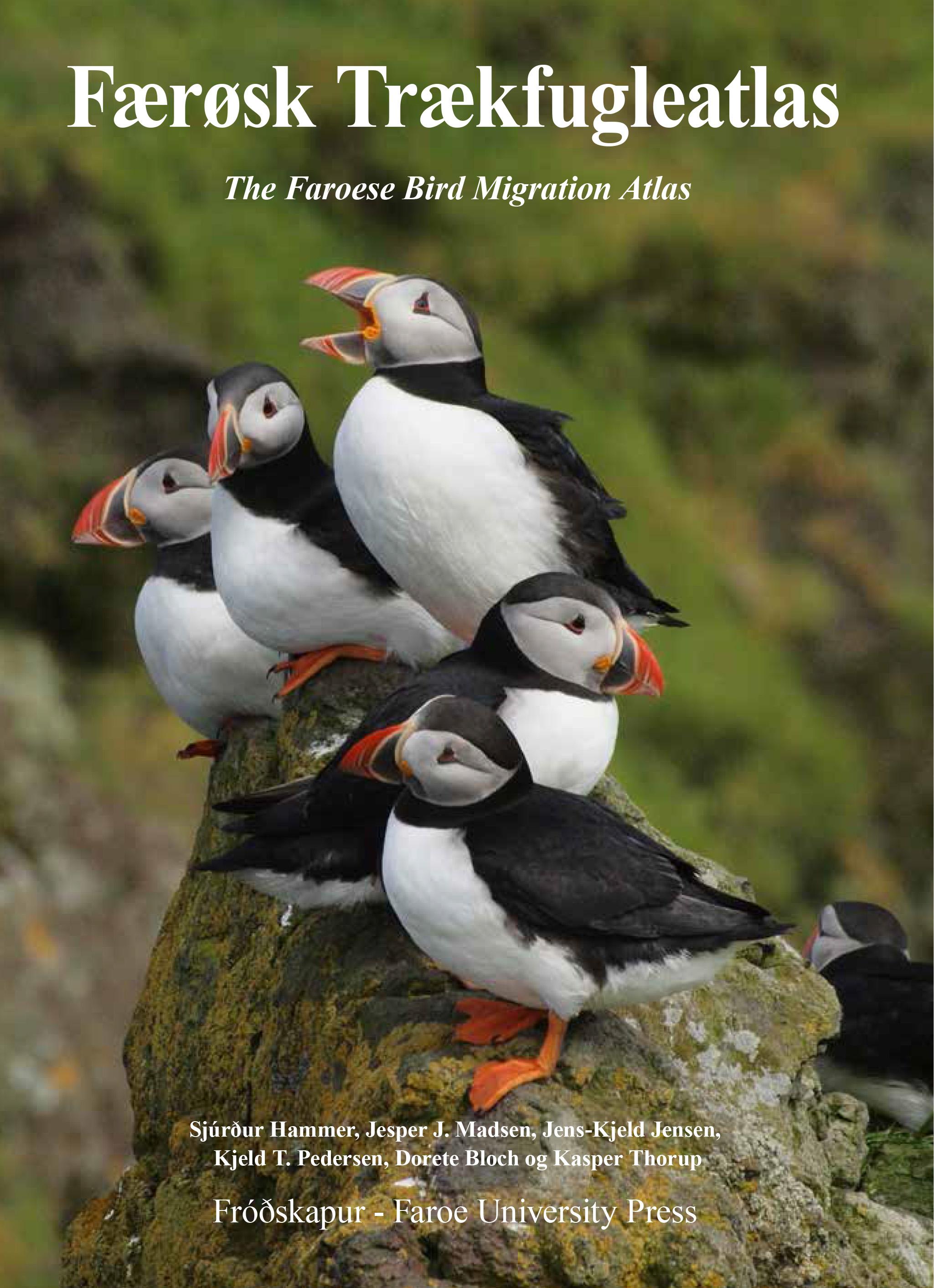Forsiden af Færøsk Trækfugleatlas.